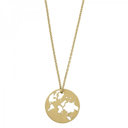 Beautiful World necklace - gold 45cm