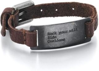 GD Mann Armbånd i stål og skinn
