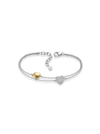 GD GULLDIA SIGNATUR ALICIA sølv armbånd med hjerte og zirkonia