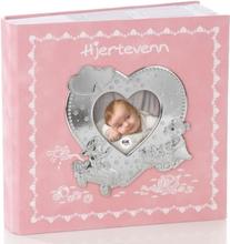 Eik Fotoalbum Hjertevenn lys rosa