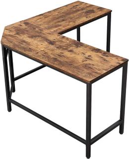 Industrielt skrivebord i L-form