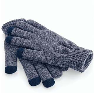 Touch Screen Smart Gloves Heather Navy 24