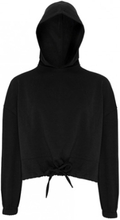 Womens Cropped Oversize Hoodie Black