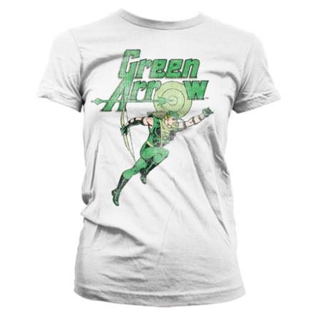 Green Arrow Distressed Girly T-Shirt, Girly T-Shirt