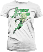 Green Arrow Distressed Girly T-Shirt, Girly T-Shirt