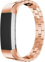 Fitbit Alta treperlet klokkereim av rustfritt stål - Rødgull