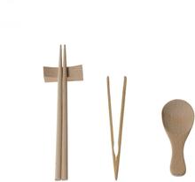 Cutlery for Kids Montessori Basic Skill Practical Materials Wooden Children Chopsticks Spoon N Bamboo Food Clip Kitchen Utensils