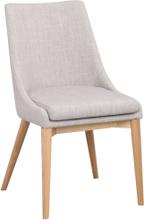 Bea stol Ljusgrå/ek