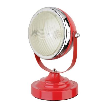 Retro Strålkastare Lampa Röd