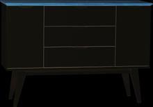 Filippa sideboard Vit/ek 122 x 40 cm