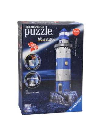 3D Puzzle Lighthouse Night Edition 3D Palapeli