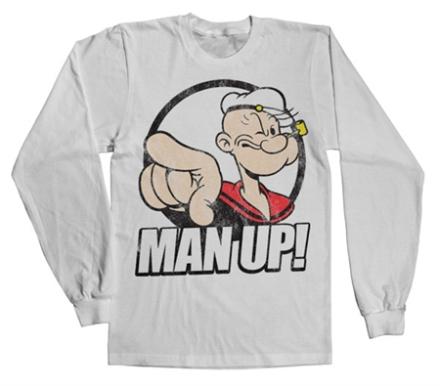 Popeye - Man Up! Long Sleeve Tee, Long Sleeve T-Shirt