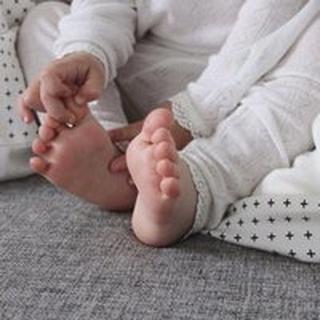 Joha - Leggings med blonde råhvid - uld/silke