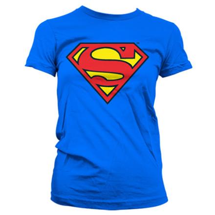 Superman Shield Girly T-Shirt, Girly T-Shirt