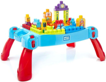 Mega Block Leather and Play Table 30pcs