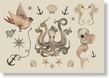 Tatuering för barn Ocean Friends, Mrs Mighetto