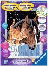 Painting by numbers-colt with Kitten