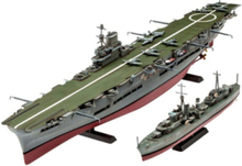 HMS Ark Royal & Tribal Class Destoyer