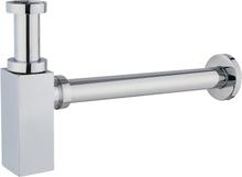 Vattenlås för vägganslutning - Krom