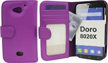 Plånboksfodral Doro 8020X (Lila)