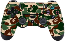 Sony PlayStation 4 - PS4 controller durable adhesive sticker - Army Stripe Camo