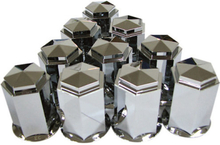 10-Pack Hjulmutterkåpa Metall 33mm