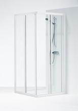 Ifö Solid Dusjvegg 700x900 mm, Klart glass m/hvit profil