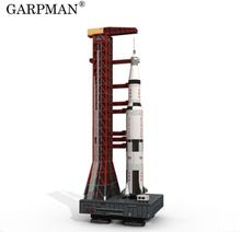 37cm 1:300 Saturn V Rocket Paper Model DIY Puzzle Manual Space 3D Origami Paper Art Toy