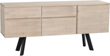 Fred sideboard Vitpigmenterad/svart 170 x 42 cm
