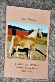 Haflinger i Sverige införda i Riksstamboken 1988 - 2016