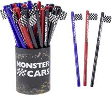 Monster Cars Blyertspenna med flagga