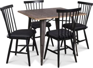 Industry matgrupp bord med 4 st Småland Pinnstolar - Vintage / Svart
