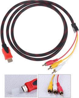 Universal Hd Hdmi Till 3rca Av-kabel 1,5 M Guldpläterad Ljudkabel
