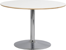 Fusione matbord Vit/krom 115 x 115 cm