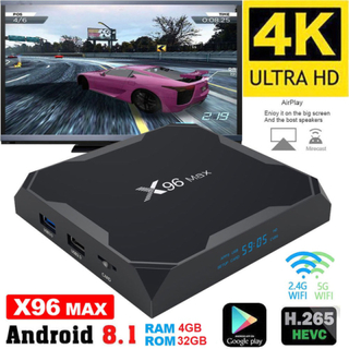 4k full hd mediaspelare x96 max - kodi, wifi tv box iptv - 8.1 a