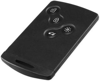 4-knappers smart card case bilskal med nøgle Renault