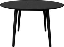 Hugo - Sort rundt spisebord med sorte ben Ø120 cm