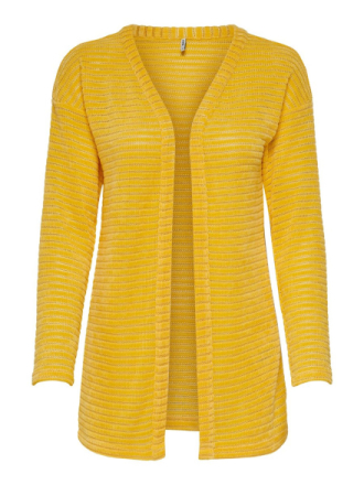 ONLY Texture Knitted Cardigan Women Yellow