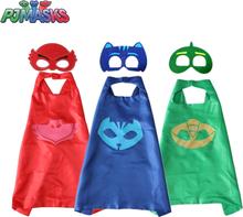 PJ Masks Children Mask Cloak Cosplay Half Face Mask Funny Halloween Party Decor Mask Superhero Anime Figure Masks Toy Kids Gift