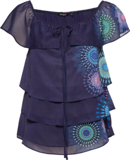 Blus Clarie Blouses Short-sleeved Lilla Desigual