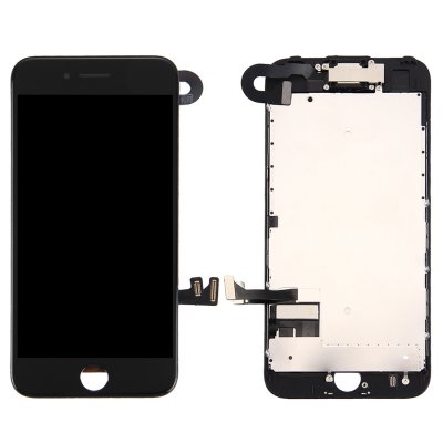 IPhone 7 Skärm Komplett med Kamera och Smådelar - Svart