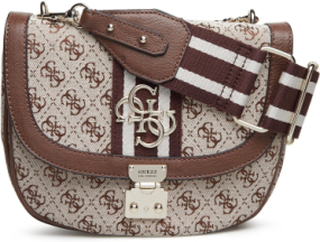 Guess Vintage Crossbody Flap Bags Small Shoulder Bags/crossbody Bags Brun GUESS