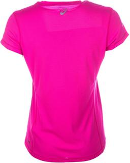 Dame Asics grafisk Ss Top i Pink-Crew Neck-Asics bevægelse X-Small