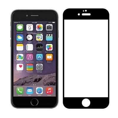 9D Heltäckande Skärmskydd för iPhone 6/6S - Svart