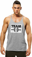 Better Bodies Team Bb Raw Cut Tank, greymelange, large Linne herr