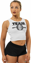 Better Bodies Team Bb Rib Tank, white, large Linnen dam