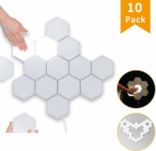 Not specified LED väggbelysning Hexagon med touch - 10 st