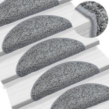 vidaXL 15 st Trappstegsmattor grå 56x20 cm