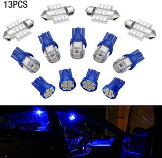 13st Bilbelysning Interiör Led-lampor För Kupolskyltlampa