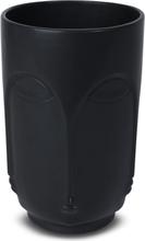 Vas Face H23 cm - Svart